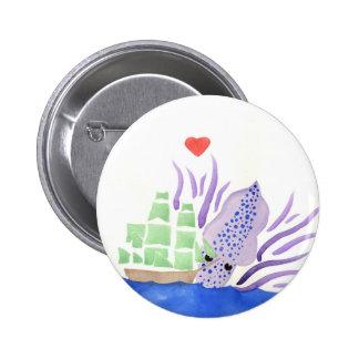 Cuddles the Kraken 6 Cm Round Badge