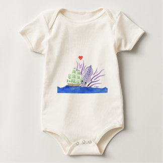 Cuddles the Kraken Baby Bodysuit