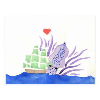 Cuddles the Kraken Postcard