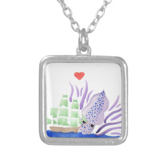 Cuddles the Kraken Silver Plated Necklace