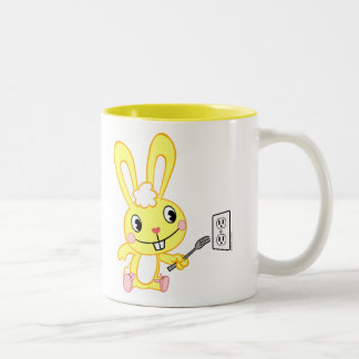 Cuddles With Fork Two-Tone Coffee Mug