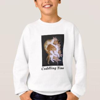 cuddling cats sweatshirt