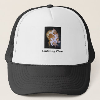 cuddling cats trucker hat