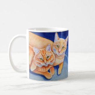 Cuddling Orange Tabby Cats Coffee Mug
