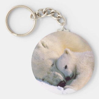 Cuddling Polar Bears Key Ring