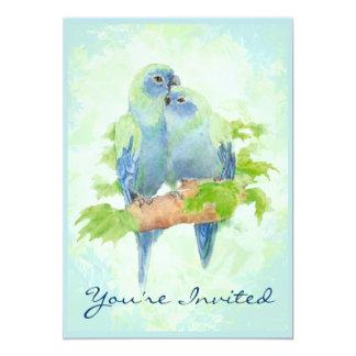 Cuddling Tropical Parrot Wedding Anniversary Card