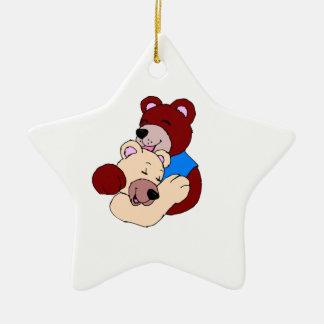 Cuddly Bears Ceramic Ornament