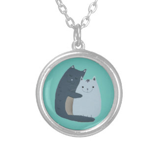 Cuddly Cats Silver Plated Necklace