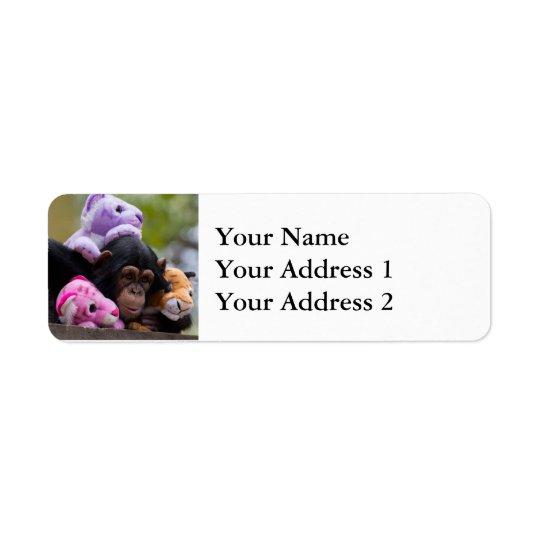 Cuddly Chimp & Friends Return Address Label