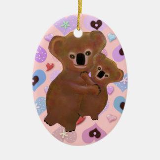 Cuddly Koala Love Ornaments