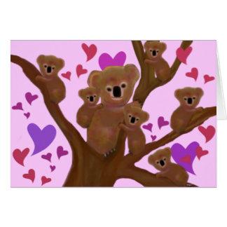 Cuddly Koala Valentine Cards
