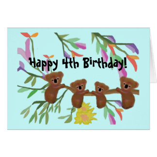 Cuddly Koalas Birthday Cards