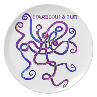 Cuddly Octopus Party Plate