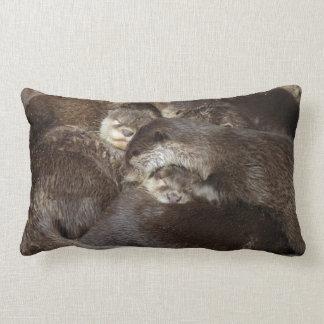 Cuddly otters lumbar cushion