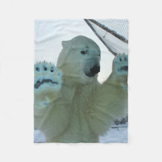 Cuddly Polar Bear Fleece Blanket