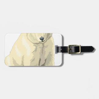 Cuddly  Polar Bear Luggage Tag