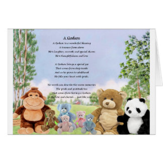 Cuddly toys Godson Card