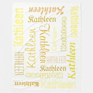 Cuddly Warm fleece Personalised Name Blanket
