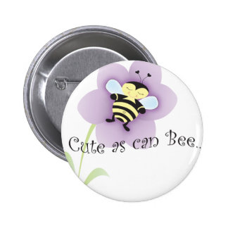 Cue as can BEE 6 Cm Round Badge
