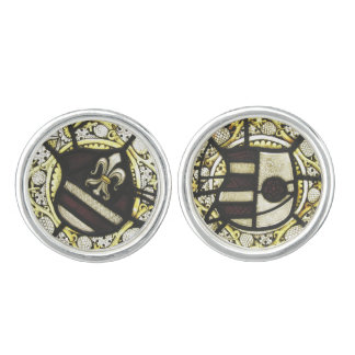 Cufflinks - Medieval Armorial Roundels