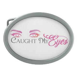 cught my eyes oval belt buckle