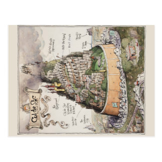 Cul de Sac and Adjacent Places by Richard Thompson Postcard