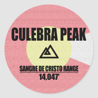 Culebra Peak Round Sticker