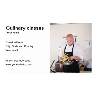 Culinary classes restaurant business card