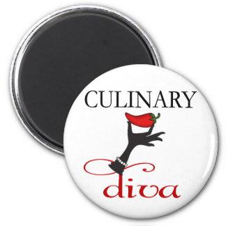 Culinary Diva 6 Cm Round Magnet