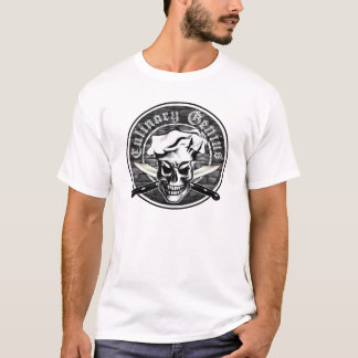 Culinary Genius 3: Chef Skull and Crossed Knives T-Shirt