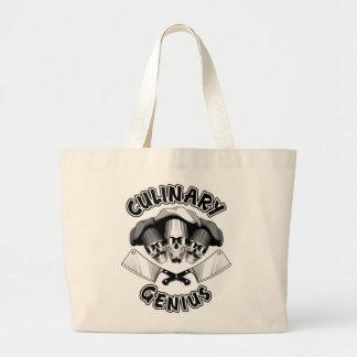 Culinary Genius: Butcher Skulls v2 Jumbo Tote Bag