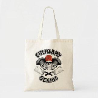 Culinary Genius: Butcher Skulls v3 Budget Tote Bag