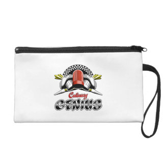 Culinary Genius: Crossed Pastry Bags Wristlet Clutches