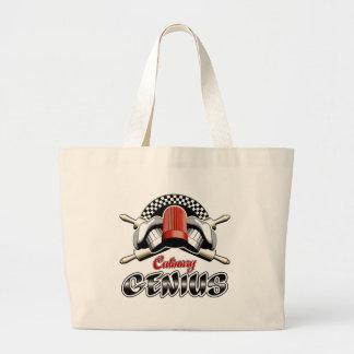 Culinary Genius: Crossed Rolling Pins Jumbo Tote Bag