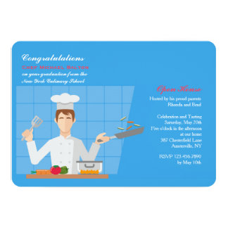 Culinary Grad Invitation