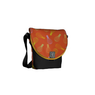 Culinary Illustration Courier Bags