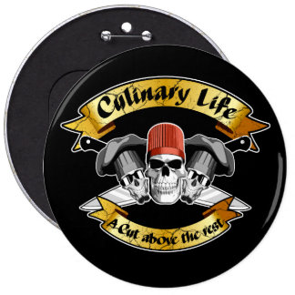 Culinary Life: A Cut Above The Rest 6 Cm Round Badge