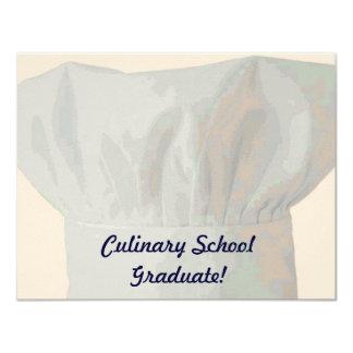 "Culinary School Graduate 4.25"" X 5.5"" Invitation Card"