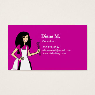 Culinary Teacher Cake Decorator Biz Card