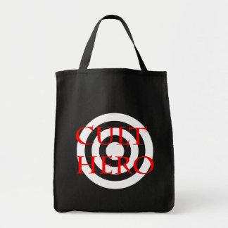 Cult Hero in Red Grocery Tote Bag