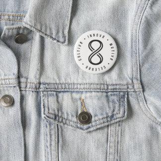 Cultiv8, Innov8, Motiv8, Celebr8 6 Cm Round Badge