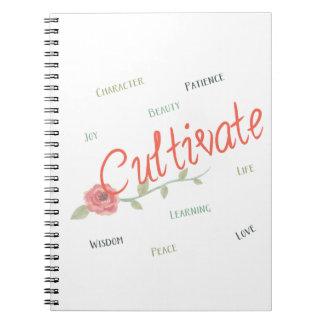 Cultivate notebook