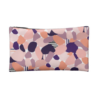 Cultural bag in the Terrazzo Design purple, orange