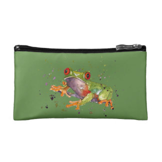 cultural bag with handpainted frog