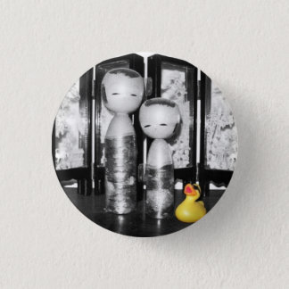 'Cultural Experience' Rubber Duck Button (small)