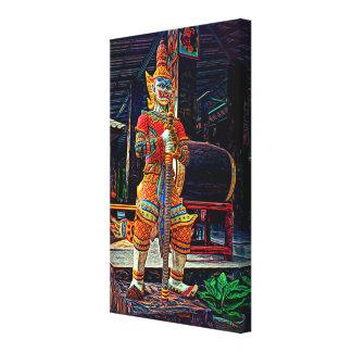 Cultural Siam Warrior Canvas Print