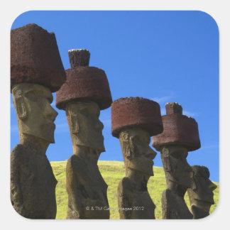 Cultural statues, Easter Island, Polynesia Square Sticker