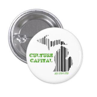 Culture capital 3 cm round badge