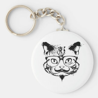 Culture Cat Basic Round Button Key Ring