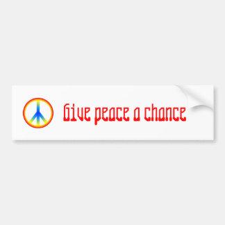 culture_peace_sign, Give peace a chance Bumper Sticker